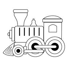 toy train outline.