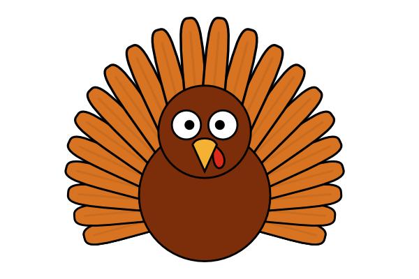 How to Draw a Cartoon Turkey.