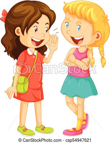 Two girls clipart 6 » Clipart Station.