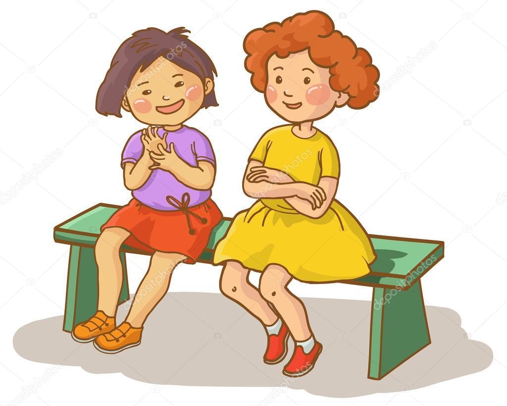 Two girls talking clipart 8 » Clipart Portal.