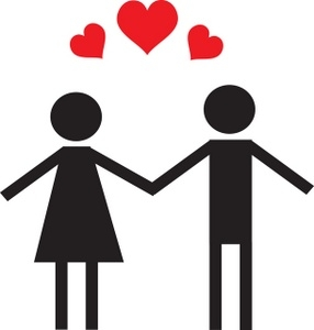 Two People In Love Clipart.