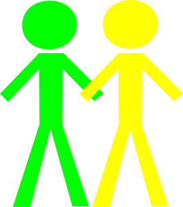 Two People Clip Art.
