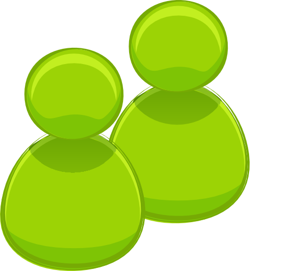 Two Green People Clip Art at Clker.com.