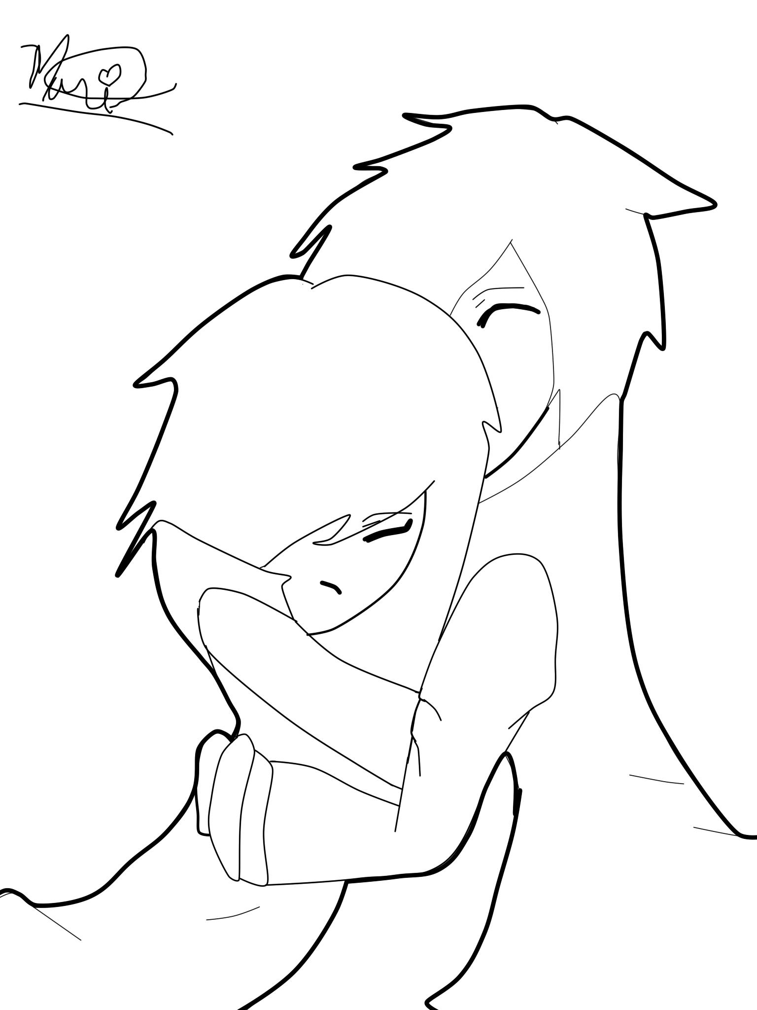 Cartoon People Hugging.