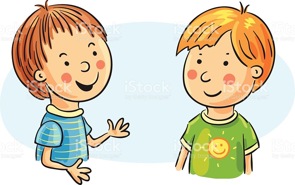 Two People Talking Clipart 11.