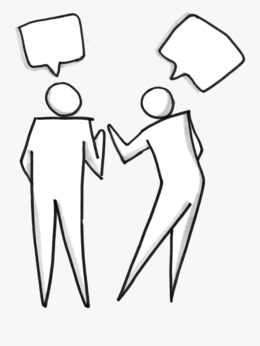 Two People Talking.