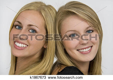 Stock Photo of Girls With Beautiful Eyes and Smiles k1867673.