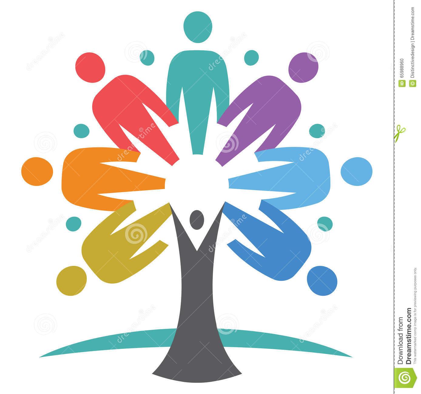 United People Tree Stock Vector.