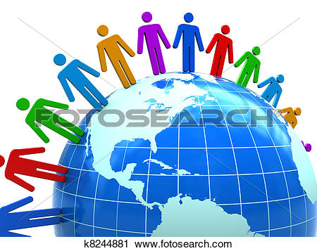 Clipart of united people k8244881.