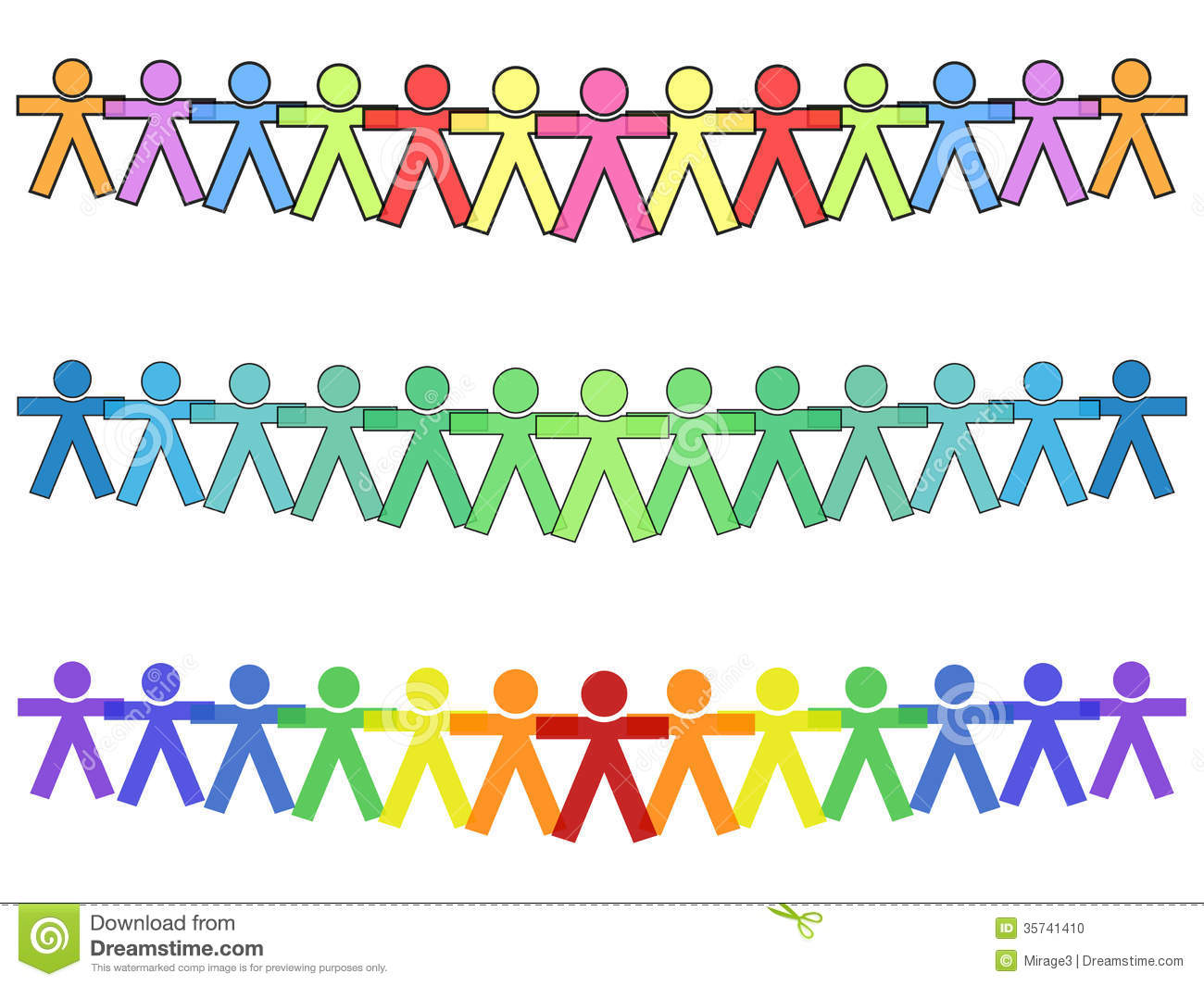 Clipart Of United People.