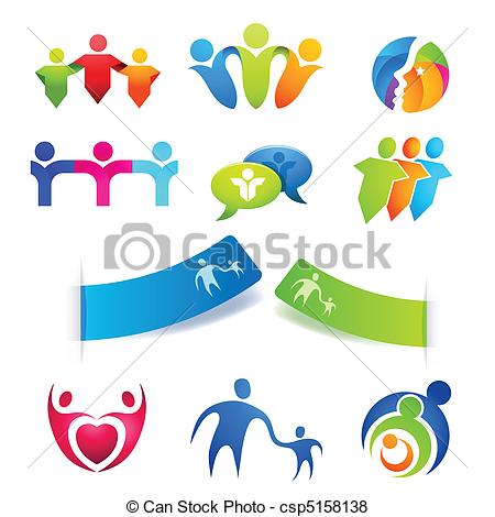 Vector of People Symbols and Stickers.