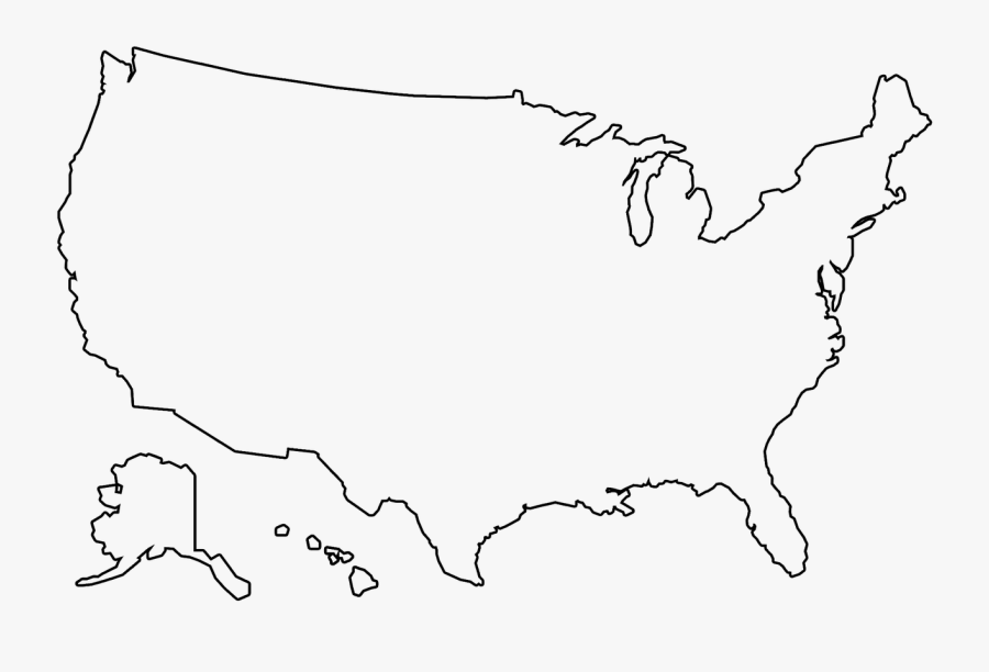 Us Map Outline Us Map America Png.