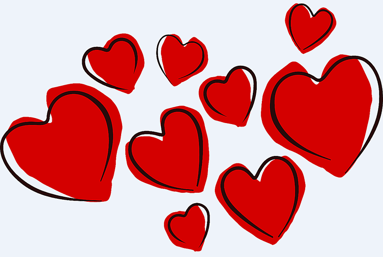 Valentines Day Hearts Clipart Free.