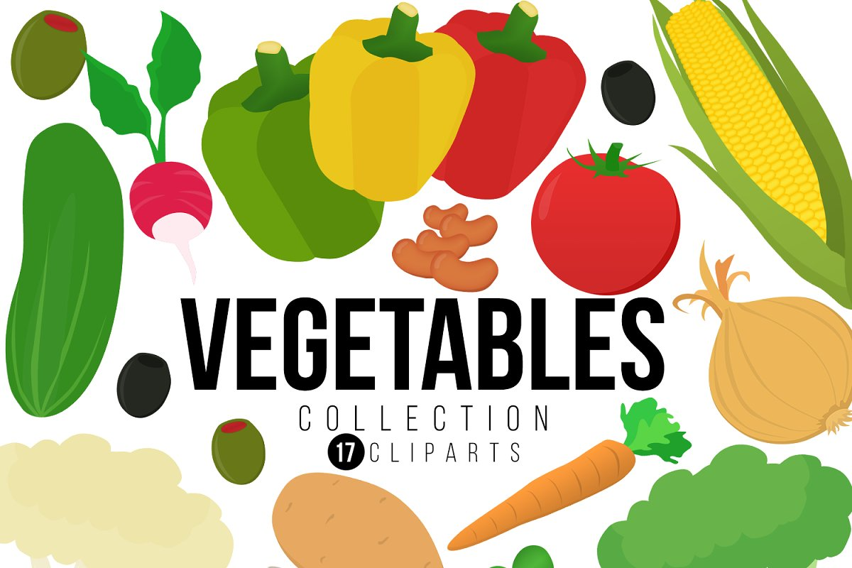 Vegetable Clipart Collection.