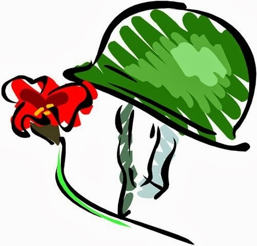 Collection of Veterans day clipart.