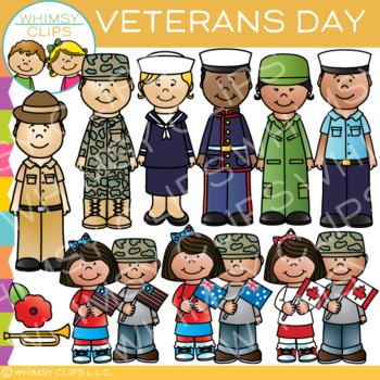 Veterans Day Clip Art by Whimsy Clips.