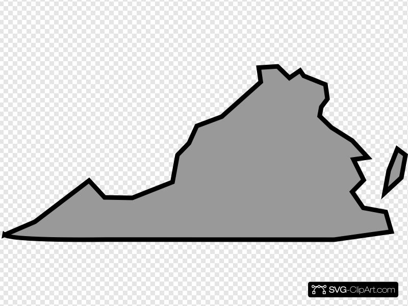 Virginia State In Light Gray Clip art, Icon and SVG.