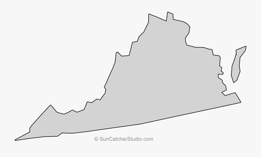 Transparent Virginia State Outline Png.