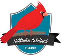 Fifty States: Virginia Clipart.
