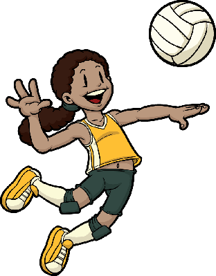 Clipart Of Volleyball Players.