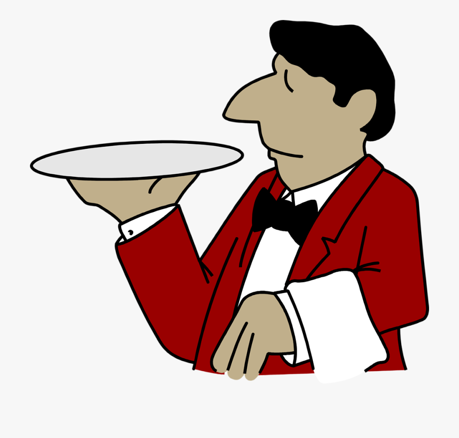 Waiter Clipart , Transparent Cartoon, Free Cliparts.