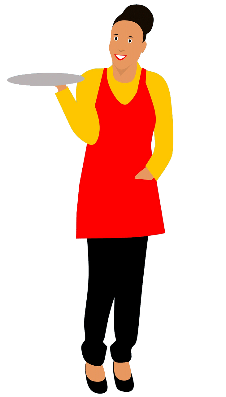 Waitress clipart. Free download..