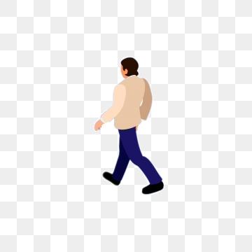 Clipart walking man illustration, Clipart walking man.