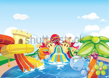 Clipart Of Water Park.