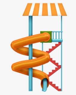 Free Water Slides Clip Art with No Background.