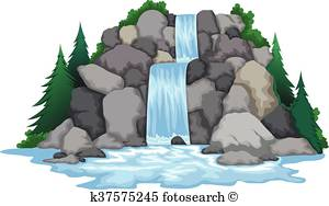clipart of waterfalls #15