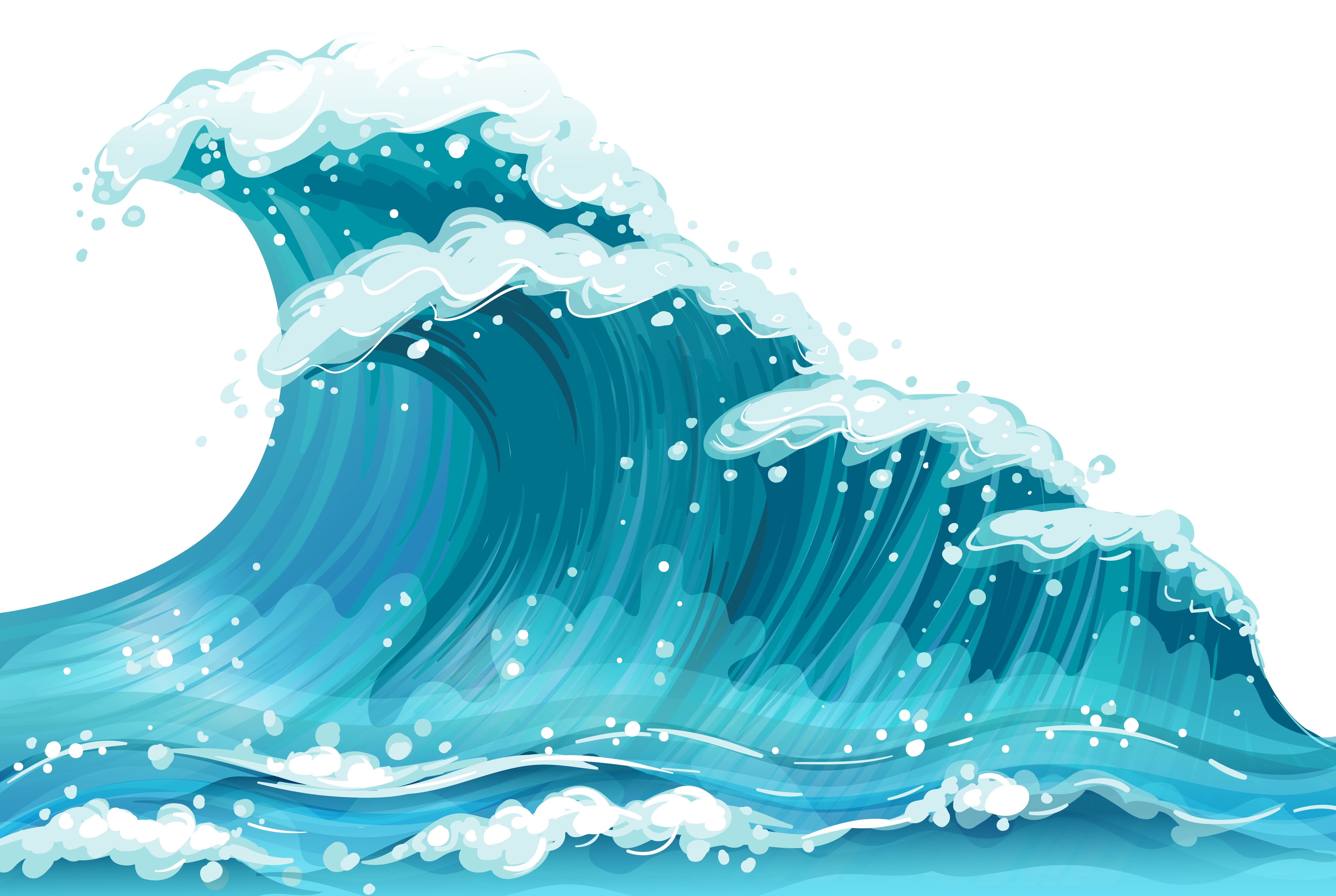 clipart waves transparent - Clipground