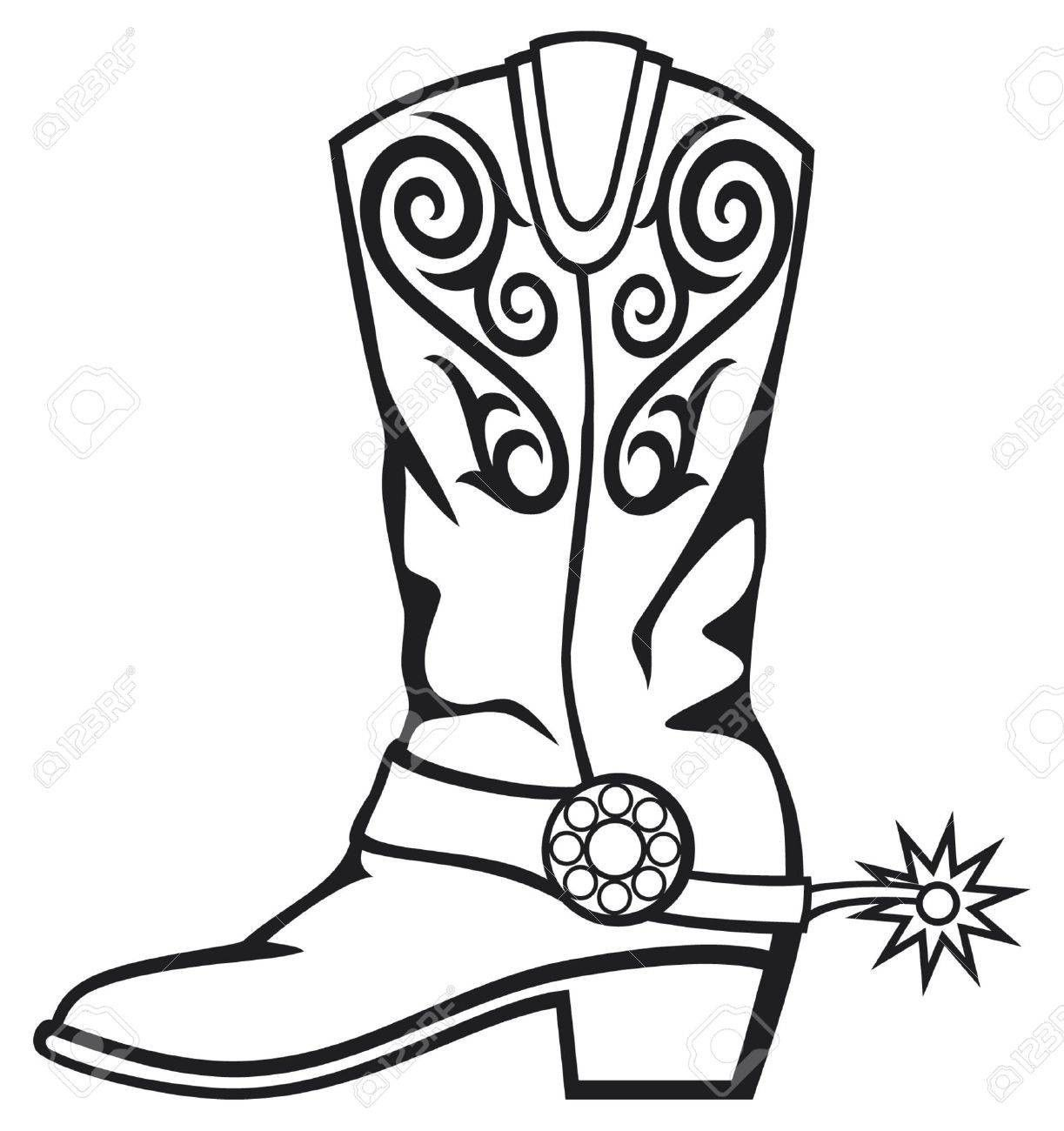 boots clipart western boot #448.
