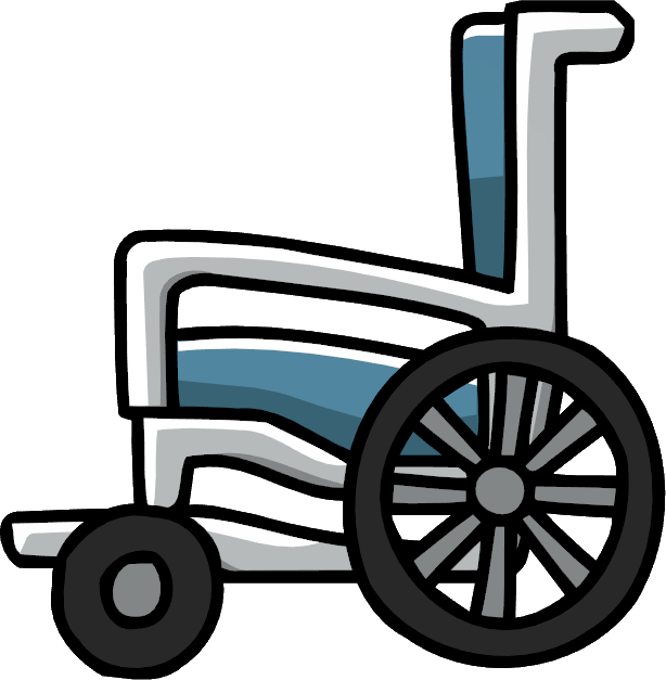 Wheelchair Clipart transparent PNG.