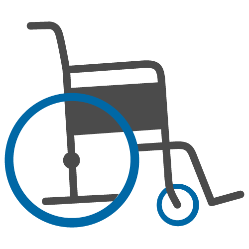 Pushing wheelchair clipart image.