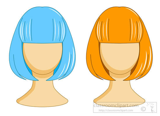 Clipart Of A Wig.