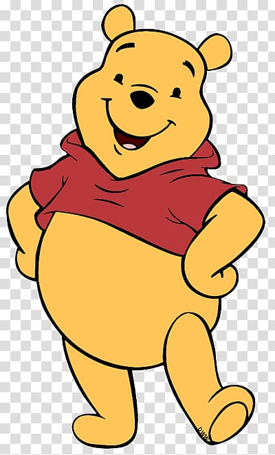 Winnie Pooh transparent background PNG clipart.