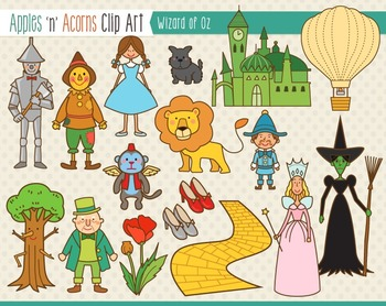 Wizard of Oz Clip Art.