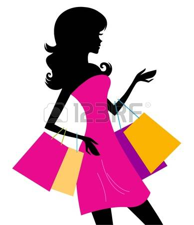 8,054 Black Woman Shopping Cliparts, Stock Vector And Royalty Free.