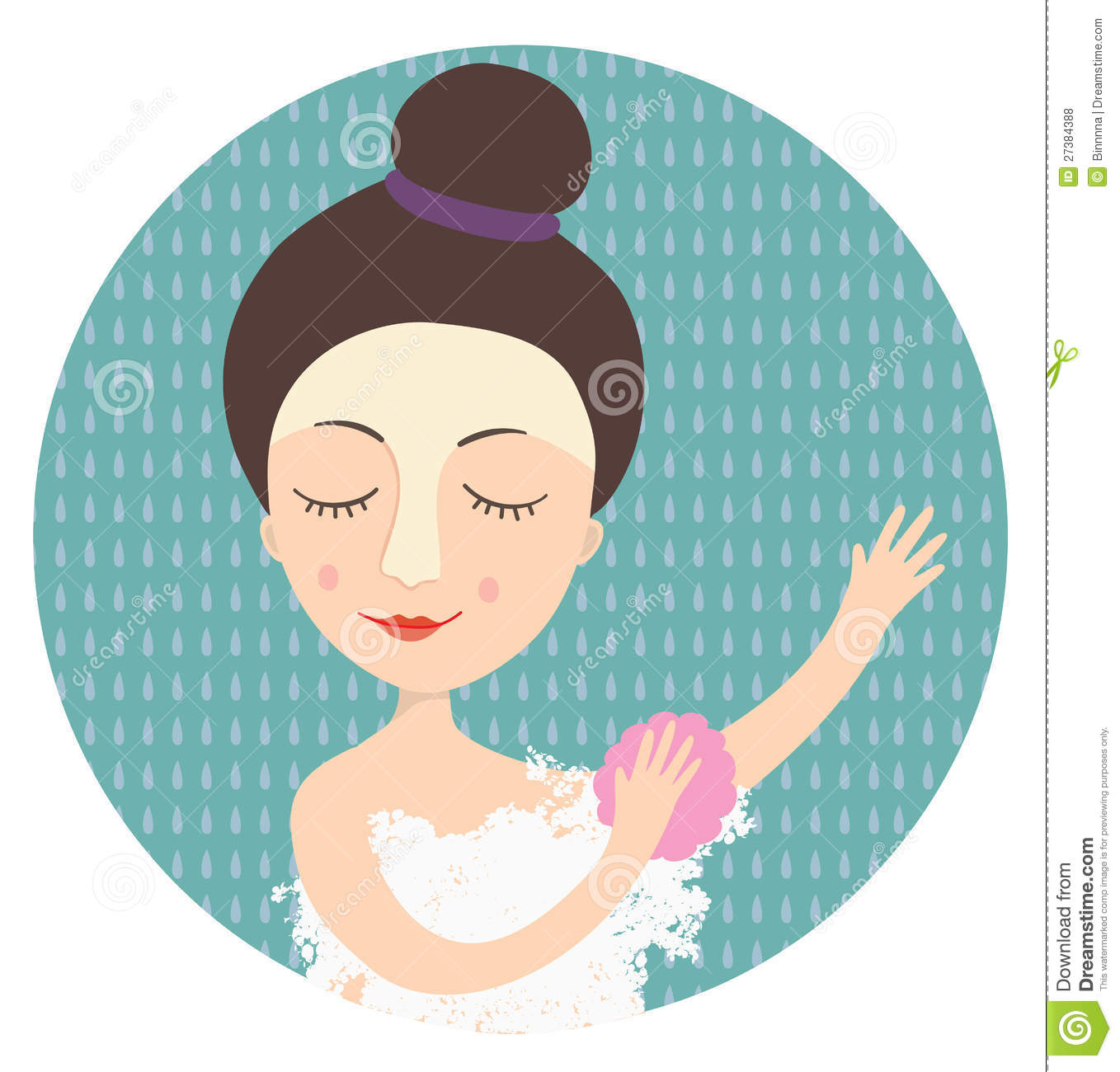 Woman Taking Shower Stock Illustrations.