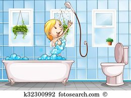 Taking shower Clipart Vector Graphics. 279 taking shower EPS clip.
