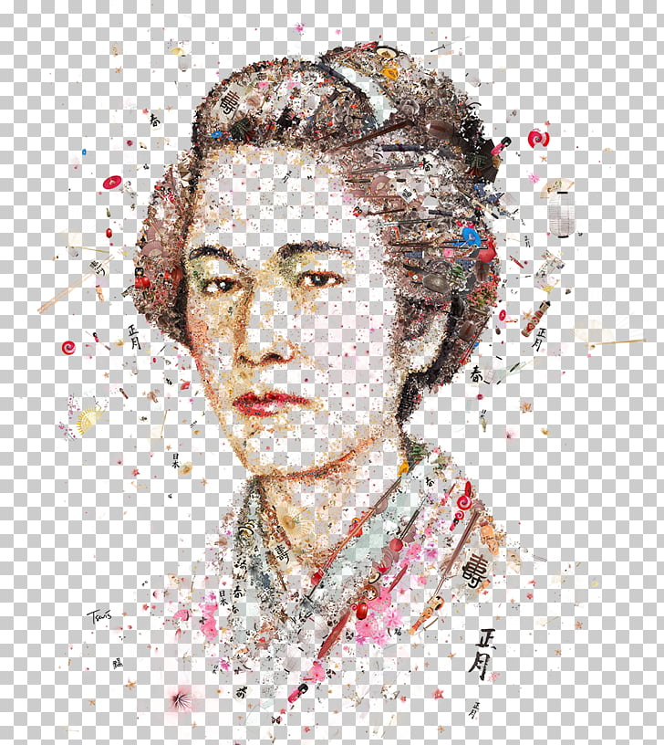 Womankind Portrait Magazine Art, Japanese women stitching.