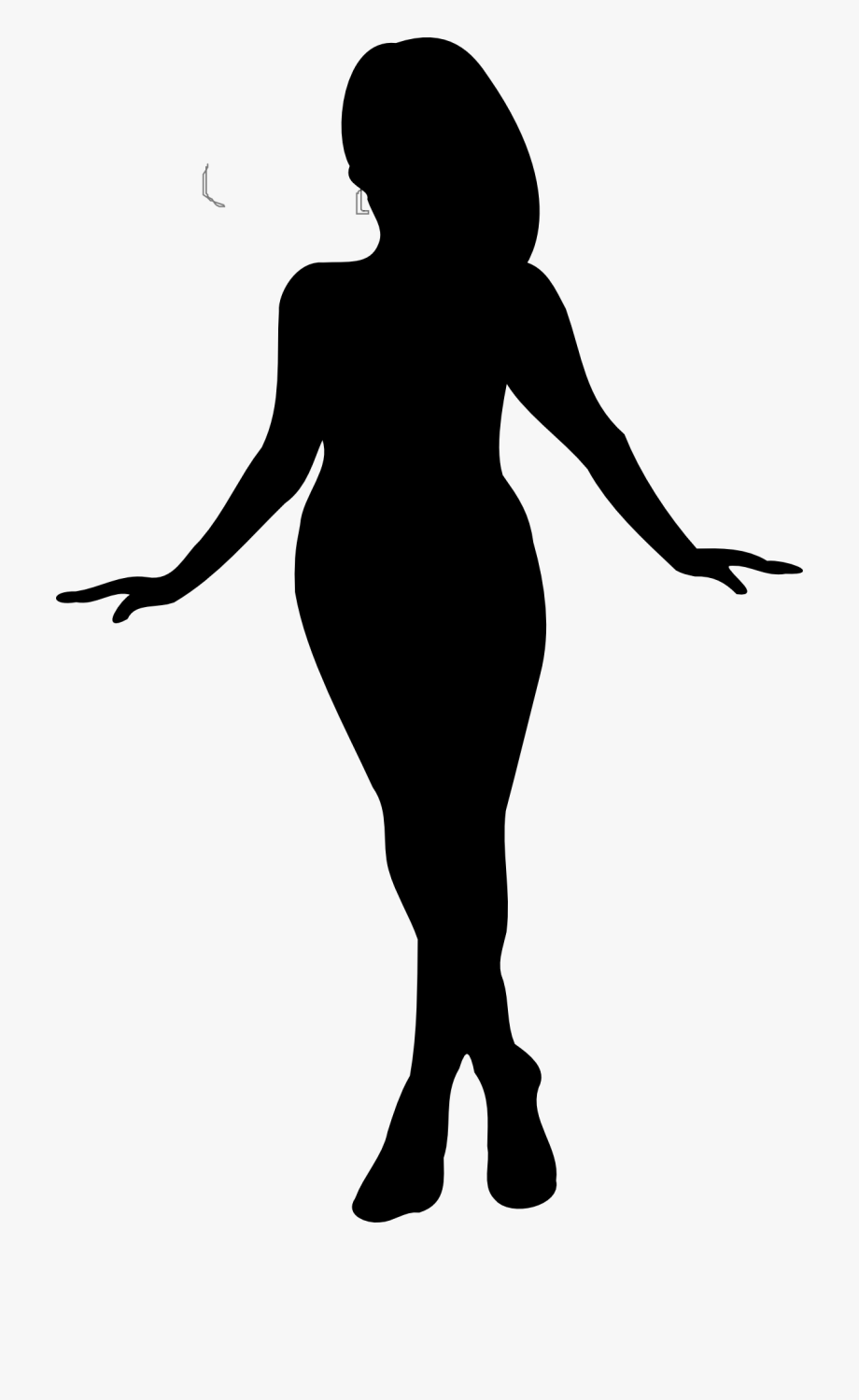 Sassy Woman Body Outline Clipart Silhouette.