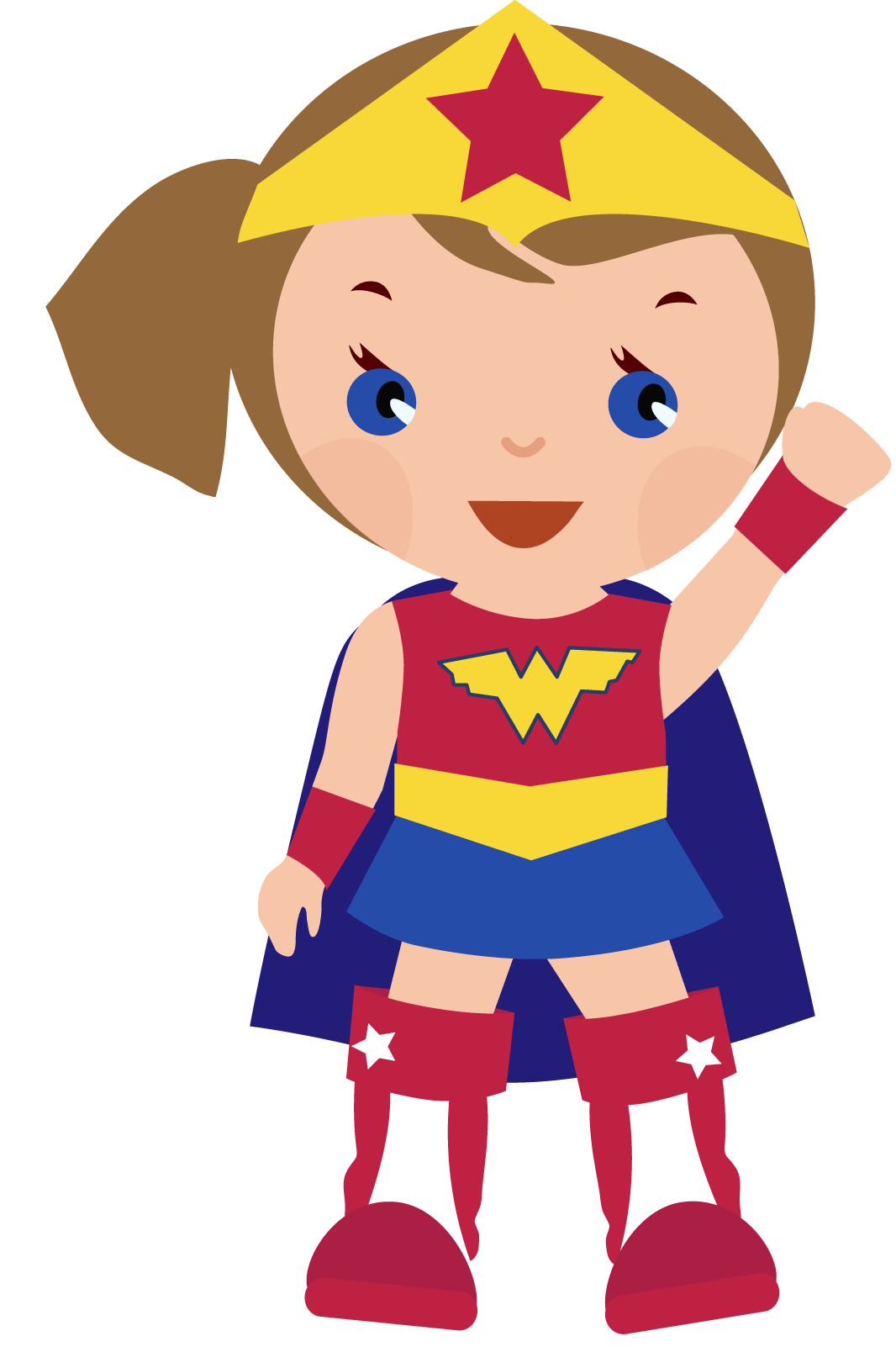 Wonder Woman Top Costume Clipart.
