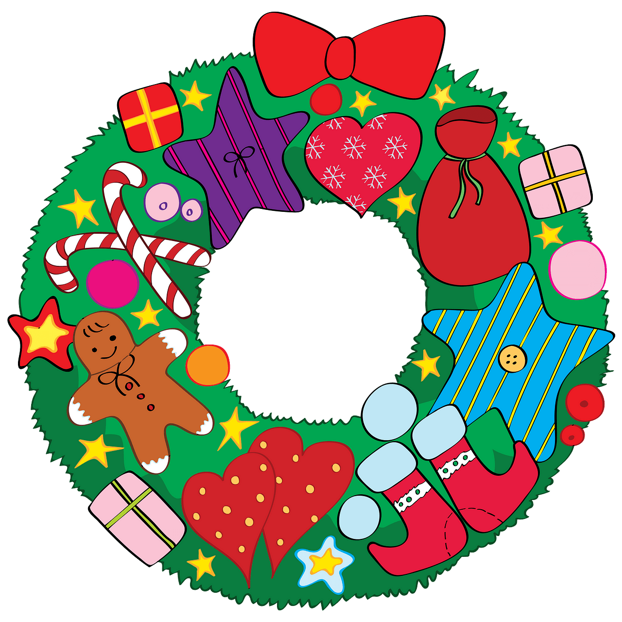Christmas wreath clipart. Free download..