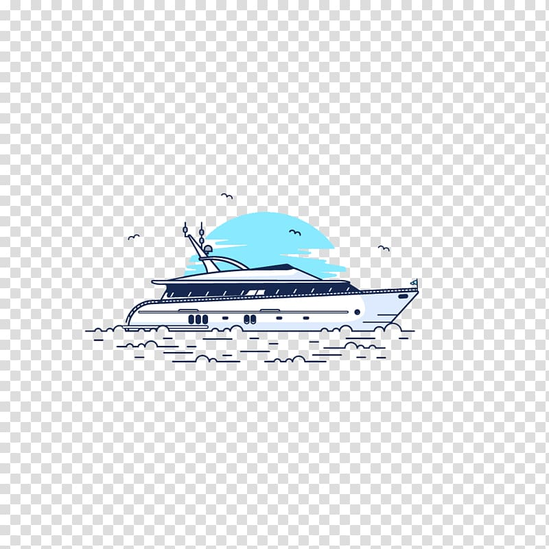 Cartoon Brand, yacht transparent background PNG clipart.