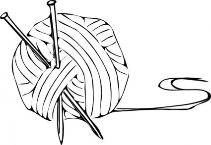 Knitting Yarn Clip Art, Vector Knitting Yarn.