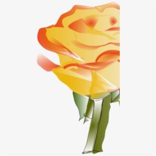 Yellow Rose Clip Art Png Image.