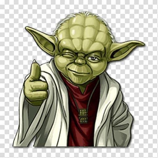 Star Wars Yoda illustration, Yoda Emoji Star Wars Sticker.