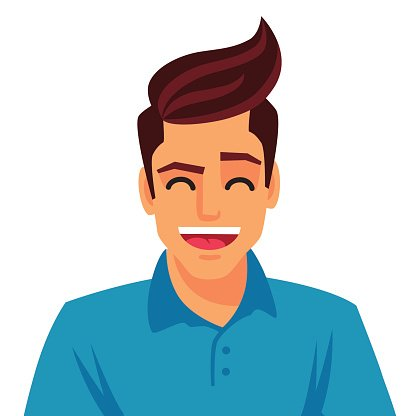 Handsome young man. Vector Clipart Image.