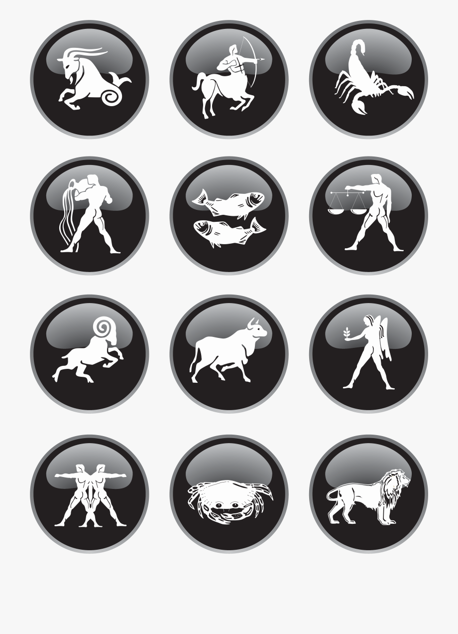 Black Zodiac Signs Png Clipart Picture.